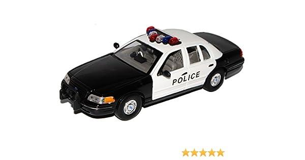 Ford Crown Victoria Police Limousine Weiss Schwarz 2 Generation 1997-2001 1//24