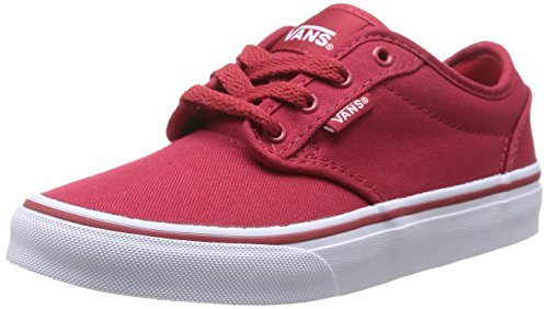 Vans Rot Schuhe Skate (Vans ATWOOD, Unisex-Kinder Sneakers, Rot ((Canvas) red/wh 5GH), 28 EU)