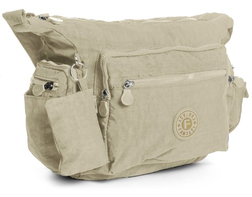 big-handbag-shop-unisex-medio-tessuto-borsa-messenger-con-pouch-beige-beige-taglia-unica