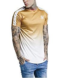 Camiseta Siksilk SS Taped Fade Gym tee Gold Mustard SS-14339