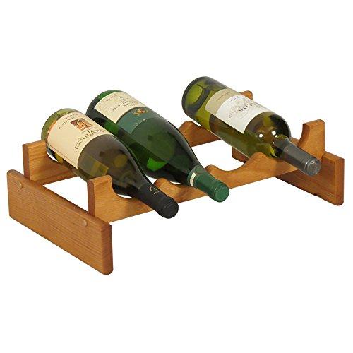 Wooden Mallet Holzhammer 4-bottle Dakota Weinregal 4 Flasche Eiche medium (System Storage Glass)