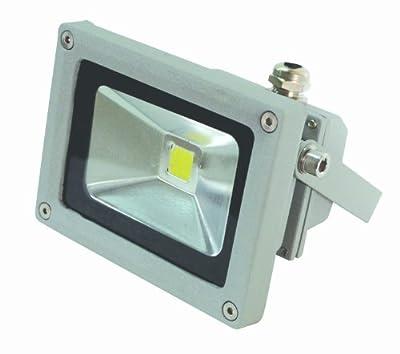 10 W LED Fluter Wandstrahler Flutlicht IP65 mit Stecker von End of the Dark auf Lampenhans.de
