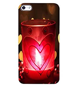 ColourCraft Love Candle Design Back Case Cover for APPLE IPHONE 4