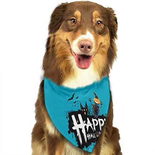 Wfispiy Hund Bandana Haustier Schal Halloween Kürbis Classic Pet Bandana Haustier Halsbänder für Hund Katze eine Größe (Kürbis Pet Bandana)