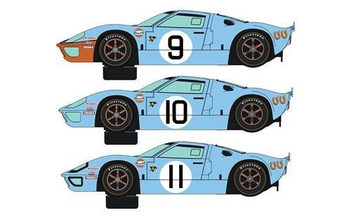 SCALEXTRIC 3896A - 1:32 Ford GT40 1968 - Gulf Triple HD, Slot Race, Slot Car, Zubehör (Slot Car Carrera 1 32)