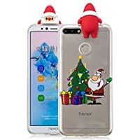 Everainy Huawei Honor 7A/Y6 2018 Silikon Hülle 3D Weihnachts dünn Durchsichtig Hüllen Handyhülle Gummi Huawei... preisvergleich bei billige-tabletten.eu