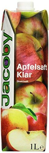 Jacoby Apfelsaft 100% klar, 6er Pack (6 x 1 l) (Apfelsaft 1 Liter)