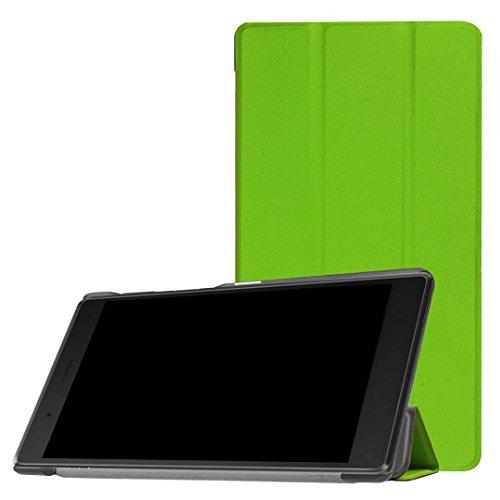 XITODA Lenovo Tab 7Essential Custodia, Ultra Slim PU Custodia in pelle con funzione stand custodia per Lenovo Tab 7Essential TB 7304F/TB 7304i/TB 7304X Tablet Case Cover Custodia B-Grün