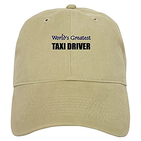 CafePress - Worlds Greatest TAXI DRIVER - Baseball Cap with Adjustable Closure, Unique Printed Baseball Hat