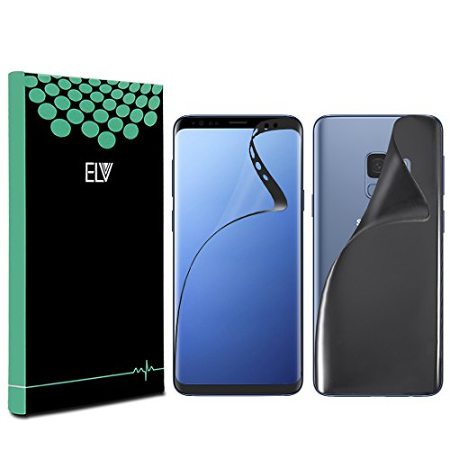 ELV Galaxy S9 screen gaurd PET Guard Front+Back Crystal Clear EDGE to EDGE screen protector for Samsung Galaxy S9 -...
