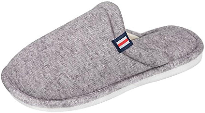 adorab chaussures pantoufles soulier de mocassin tong chaussures sandales de soulier l'automne et de l'hiver chez les hommes et les femmes à l'intérieur du coton... 09512d