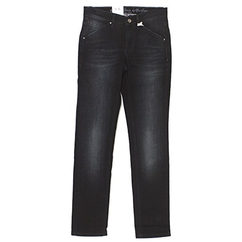 MAC Ashley Endless Chain Stretch, Damen Jeans Hose, Stretchdenim, Blackblue Used, D 34 L 32 inch 26 [16883] (Denim Stretch Ashley)