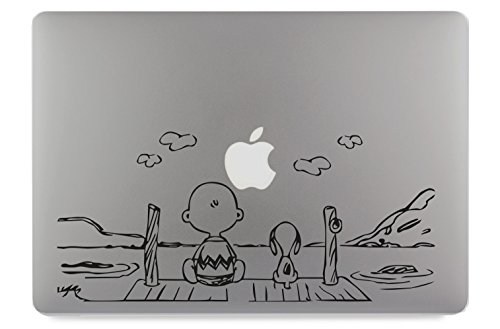 """Hund am Steg Apple MacBook Air Pro Aufkleber Skin Decal Sticker Vinyl (13"""")"""