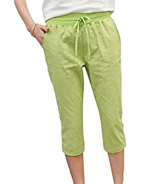 YiLianDa Einfarbige Damen Bermuda-Shorts Elegante Kurze Hose im Chino-Style 6984d33812