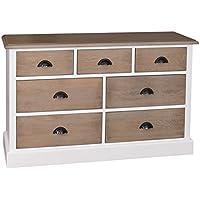 Comparador de precios Casa-Padrino Country Style Sideboard White/Natural Colors 122 x 38 x H. 75 cm - Furniture in Country Style - precios baratos