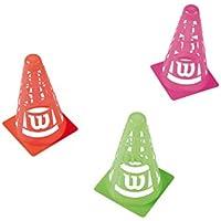 Wilson Set de conos, Safety Cones, Pack de 6, Pvc, Colores surtidos, WRZ259500
