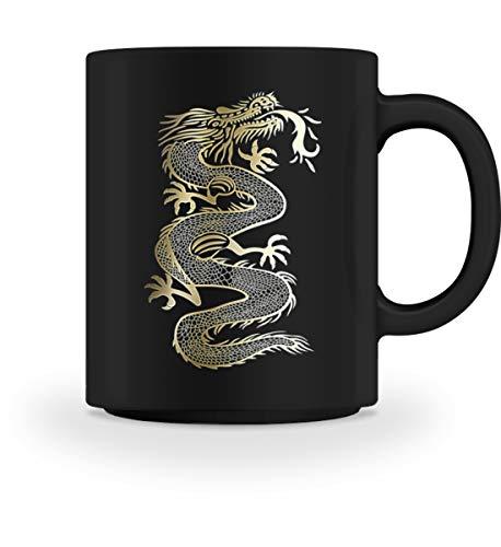 Chinesischer Drache Gold Dragon Fantasy T-shirt Kampfsport Geschenkidee - Tasse (Lustige College Party Kostüme)