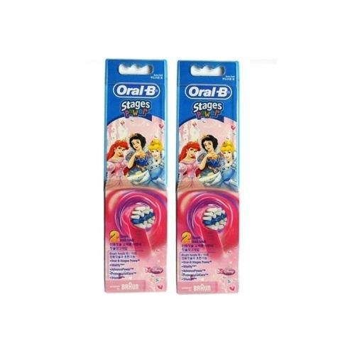 Braun Oral-B EB10–4–Cabezal de recambio para cepillo de dientes Disney Princess Pack 4