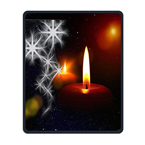 Mouse Pad with Christmas Tree Ornaments Fireplace Christmas Decorations Flowers Home Holiday Comfort Non-Slip Neoprene Rubber Desktop/Computer Mouse Mat M10