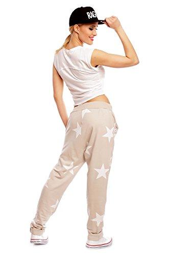 House in Style -  Pantaloni sportivi  - cavallo basso - Donna Beige