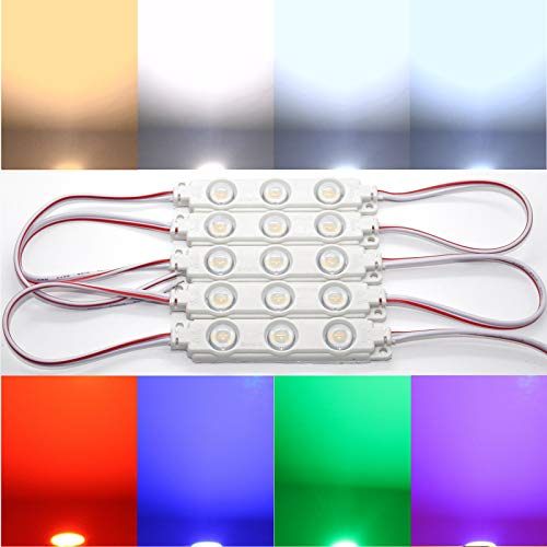 Preisvergleich Produktbild 10x LED Module SMD Chip warmweiß Kaltweiß Lumen Top Injektion (warmweiß 2800-3500K)