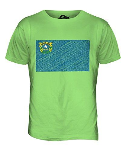 CandyMix Bundesstaat Nevada Kritzelte Flagge Herren T Shirt Limettengrün