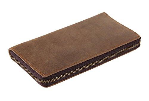 Everdoss Unisexe portefeuille en cuir sac à main portemonnaie sacoche bourse de style rétro