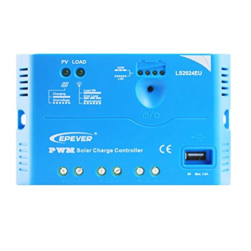 YAOSHI-controlador LS-E-Serie LS1012E LS1024E LS2024E 5A 10A 20A Solarpanel Laderegler Mini-Solaranlage (Style : LS2024E)