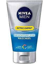 Nivea Men Active Energy Gesichtspflege Waschgel, 2er Pack (2x 100 ml)