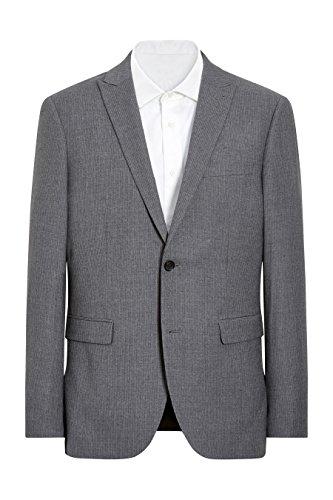 next Veste de costume Signature ajustée en crêpe à rayures Coupe Ajustée Homme Gris
