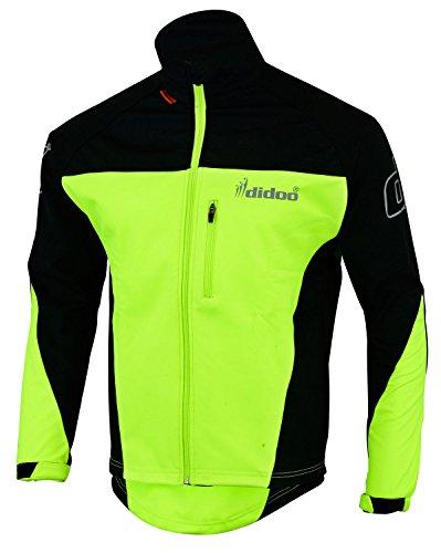 hilbro New Men 's Soft Shell Jacken Wind resistent leicht wasserfest Radfahrer Mäntel Schwarz / gelb