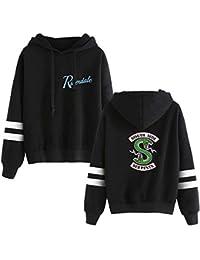 OLIPHEE Camisetas béisbol con Capucha Impresa Serpiente de Riverdale para Mujer