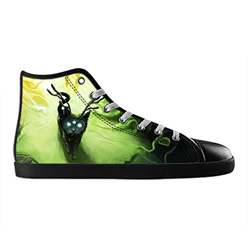 Dalliy art mignon petit chat Men's Canvas Shoes Lace-up High-top Footwear Sneakers Chaussures de toile Baskets E