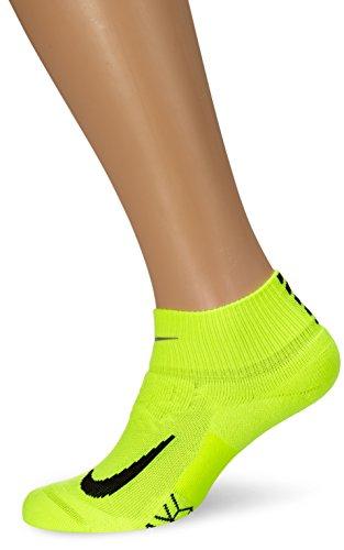Nike-herren Dri-fit Körper (Nike Herren U NK Elite Cushionion QT-RN Unisex Knochel-Laufsocken, Volt/Schwarz, 4-5.5)