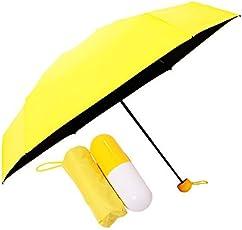 Kraptick Ultra Lights and Small Anti-UV Capsule Yellow Umbrella