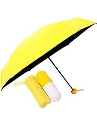 Kraptick Ultra Lights and Small Anti-UV Capsule Umbrella with Cute Capsule Case Waterproof Ultra Protective/Mini UV Umbrella