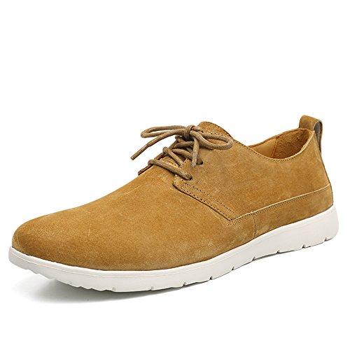 OZZEG Slip nouveau 2016 hommes sur Casual chaussures mocassins en cuir véritable brun