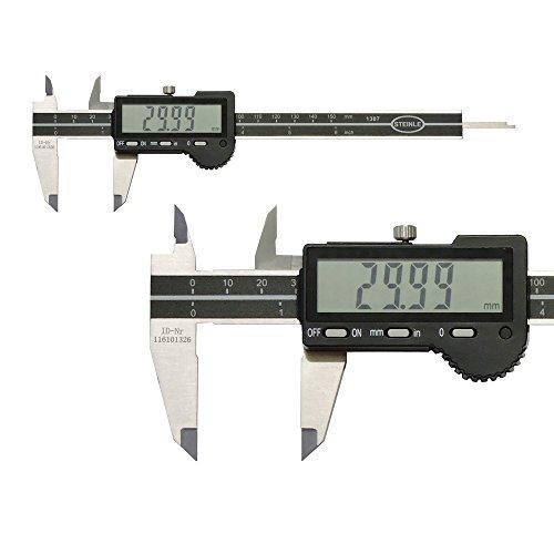 STEINLE 1307 Digital Messschieber 150 mm Ablesung: 0,01 mm Tiefenmaß: flach