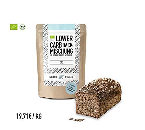 Organic Workout LOWER-CARB-BACKMISCHUNG - Bio | paleo | glutenfrei |eiweissbrot-alternative | ballaststoffreich |ohne Zuckerzusatz | ohne Getreide | hergestellt in Deutschland
