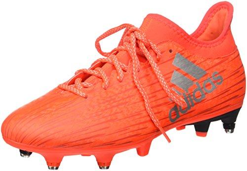 adidas X 16.3 SG, Scarpe da Calcio Uomo, Arancione (Solar Red/Silver Metallic/Hi-Res Red), 42 2/3 EU