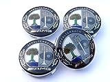4 x AMG Mercedes Affalterbach compatible Centre Caps Hub Cover Badges Emblem 75mm