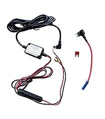 Idea Regalo - Dash Camera Hard Wire Kit - Mini USB Dash Cam 10 piedi Hardwire e kit di fusibili per fotocamera Dash Alimentazione Caricatore per auto GPS Car DVR Scatola di alimentazione (Angelo sinistro Mini USB e