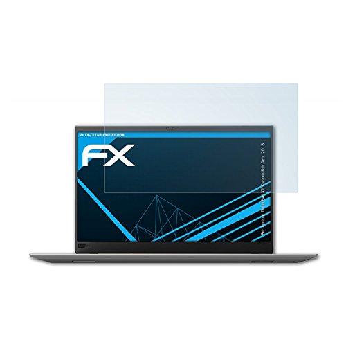 atFolix Displayschutzfolie für Lenovo ThinkPad X1 Carbon (6th Gen. 2018) Schutzfolie - 2 x FX-Clear kristallklare Folie