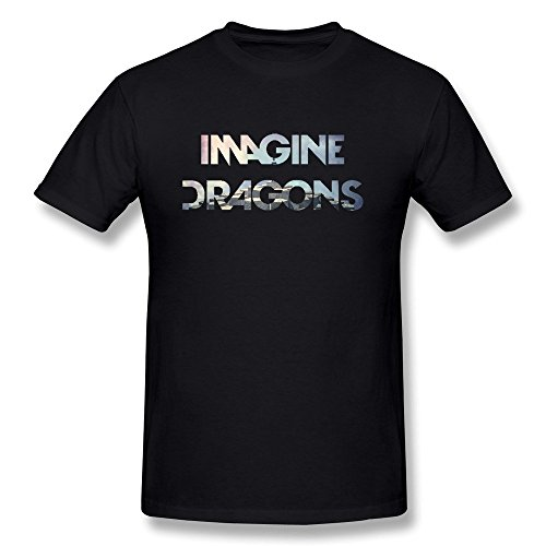 Sixtion Men's Imagine Dragons Zig Zag T-Shirt Large