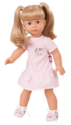 Götz 1690398 Precious Day Girls Jessica Puppe Summertime - 46 cm große Stehpuppe, blonde lange Haare und blaue Schlafaugen - 5-teiliges Set mit DVD