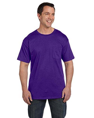 Hanes Men's Beefy-T T-Shirt With Pocket Violett - Violett