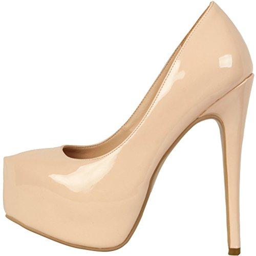 5db1f7fa38b1b Calaier Femme Cawrite Luxe Sexy Parties Confortable Plate-Forme Grande  Taille Chaussures De Talon Supérieure ...