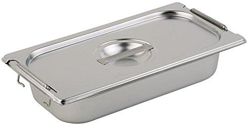 APS 82532 Deckel für GN-Behälter 2/3 ca. 325 x 354 mm Edelstahl, mit Aussparung für Fallgriffe