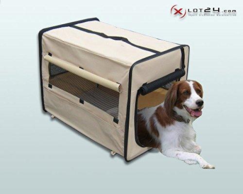 Faltbare Hundebox / Auto Transportbox / Transporthütte / Hundehütte L Beige