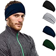 Workout Hairband Headband Sweatband Moisture Wicking Absorbing Stretchy Sports Unisex Elastic Helmet Liner for